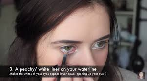 how to use white eyeliner big eyes makeup tutorial by makeup tutorials at