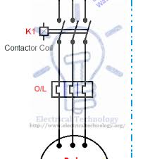 start stop contactor wiring diagram start image starting stopping of 3 phase motor from more than one on start stop contactor wiring diagram