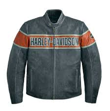 harley davidson reg men s victory lane distressed black leather jacket