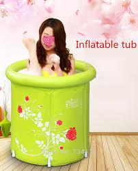 inflatable tub folding barrel plastic inflatable children s bath tub thickening portable bathtubs love better home spa