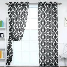 mercury row geometric semi sheer grommet moroccan shower curtain bathrooms panels style curtains shower curtains
