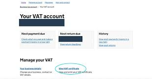 how to view your vat certificate in