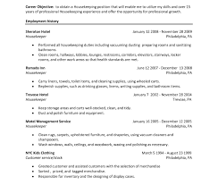 Resume Objective For Housekeeping Job Resumective For Housekeeping Jobs Resumes Cleaning Job Career 14