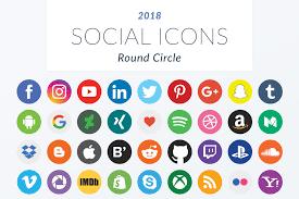 round social media icon. Beautiful Round Previous For Round Social Media Icon O