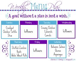 Weekly Menu Template Life Family Love Menu Plan Week 51 More
