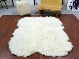 flokati sheepskin rug sheepskin shape natural white rug super thick wool superior flokati sheepskin rug