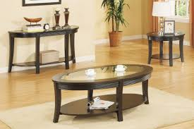 ... Black Oval Traditional Wooden Base And Glass Top Coffee Table Sets  Design Sideas For ...