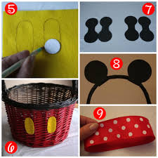 diy mickey and minnie easter baskets inspired by dis