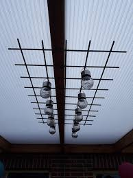 Een Beton Rek Met Lampjes Er Aan Op Onze Veranda Goed Idee What