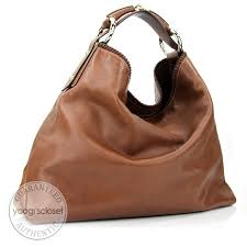 gucci brown leather chain large horsebit hobo bag