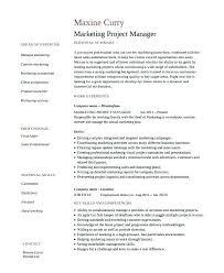 Academic Resume Examples Great Marketing Resume Examples Marketing ...