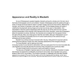 appearance and reality in macbeth gcse english marked by  document image preview