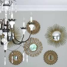 gold sunburst mirror. Gold Mirror Set Sunburst Mirrors