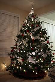 Baby Nursery  Appealing White Christmas Tree Decorations Silver Red Silver And White Christmas Tree
