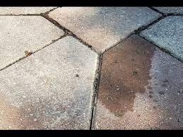 removed oil stains from paver driveway