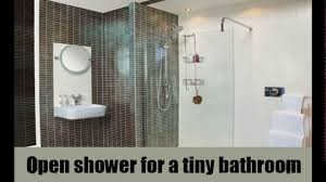 Open Shower Bathroom Small Open Shower Bathroom Design Youtube