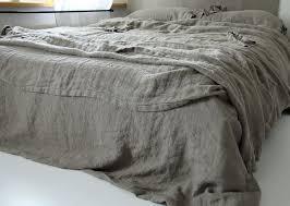 grey linen duvet cover
