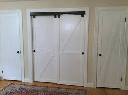 Remodelaholic How To Make Pass Closet Doors Into Sliding Faux Barn Door  Closet