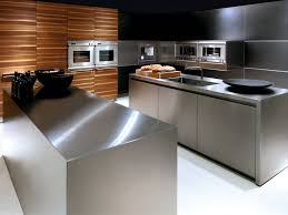 Small Picture Kitchen A Modern Kitchen And Stainless Steel Kitchen Island Why