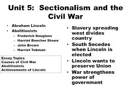 mid term review wednesday th m c questions  7 unit 5 sectionalism and the civil war