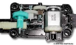 inside the power door lock actuator