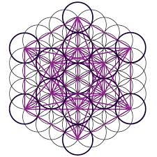 patterns derived from the seed of life are also used to map out geometric forms the flower of life as a template for metatron s cube a figure that