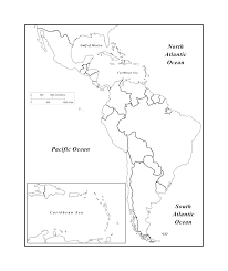 North And South America Blank Map South America Physical Map Outline Votebyte Co