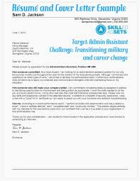 Great Example Transitioning Military Resume And Cover Letter