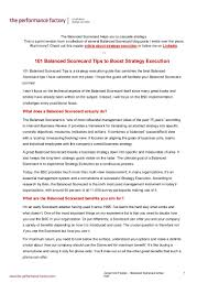 balanced scorecard tips pdf version