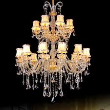Us 118915 15 Offmoderne Kristall Stoffschirm Kronleuchter Luxus Kristall Und Stoff Kronleuchter Für Hotel Limousine Führte Zeitgenössischen Gold