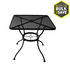 endearing metal patio table 29 tables at black steel round garage breathtaking metal patio table
