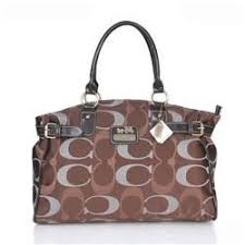 Bag · Coach Logo In Monogram Large Coffee ...