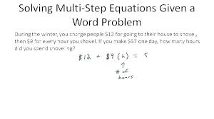 one variable equations worksheets solving algebraic step multi worksheet variables grade algebr one variable equations