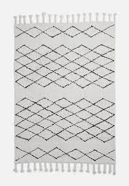 sixth floor diamond tufted rug cream black