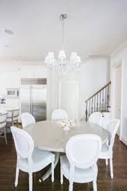 circular grey kitchen table off all white with serena and