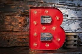 letter b vintage light
