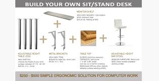 build your own sit stand desk
