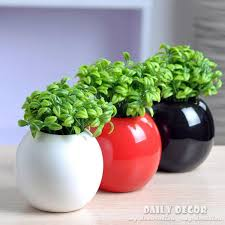 Decorative Ceramic Balls Sale Awesome Hot 32Pcs Artificial Bean Sprout Pot Plants Small Ceramic Ball Vase