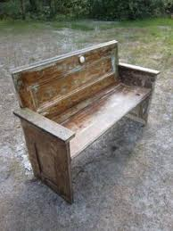 bench made out of an old door i want some of these too park benches bench doors and repurposed