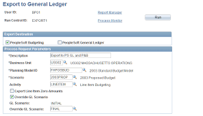 Integrating With Peoplesoft General Ledger