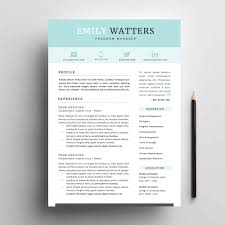 Cover Page Resume Resume Template Package for MS Word 'Oceanside' Impresumes 74