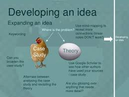 Developing an idea Case Theory Study
