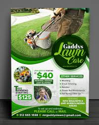 Lawn Care Brochure Serious Modern Landscaping Flyer Design For Mr Gaddys Lawn Care By