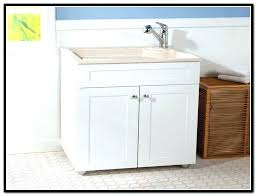 bathroom utility sink. Utility Sink With Storage Cabinet Laundry Room . Bathroom