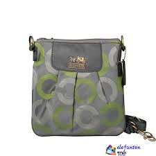 Grey Coach Logo C Monogram Small Crossbody Bags