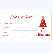 Gift Certicate Template Christmas Gift Certificate Template 38 Word Layouts