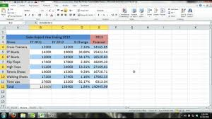 Excel 2013 Tutorial For Noobs Part 11 How To Create A Workbook Sales Report Forecast