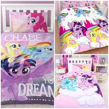 details about my little pony mlp equestria horses single double bedding set girls pink duvet