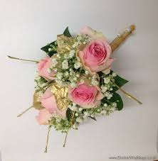 gypsophila and gold leaves and twigs wedding flowers liverpool merseyside bridal florist booker flowers and gifts booker weddings