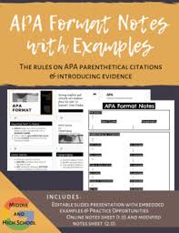 Apa Format Introduction An Introduction To Apa Format Notes With Examples